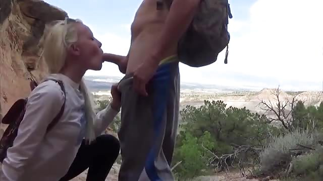 blowjob on cliff