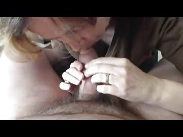Dutch mature sucks cock