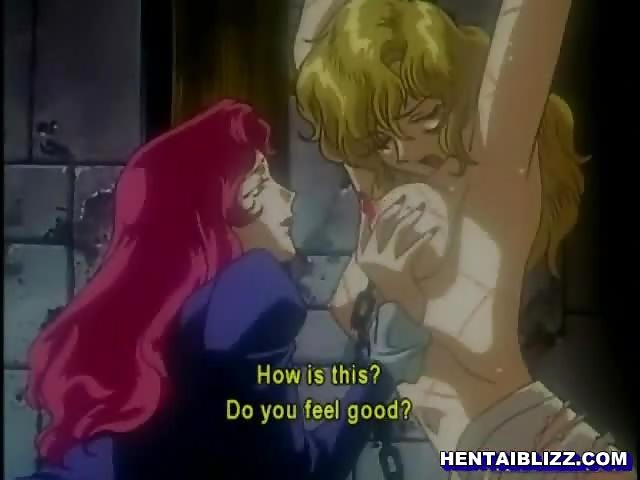 Captive Anime Gets Squeezed Her Big Tits