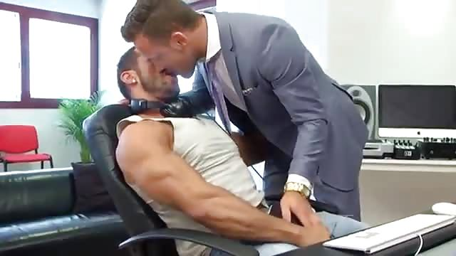 Two Handsome Men In The Office - Pornjamcom-3771