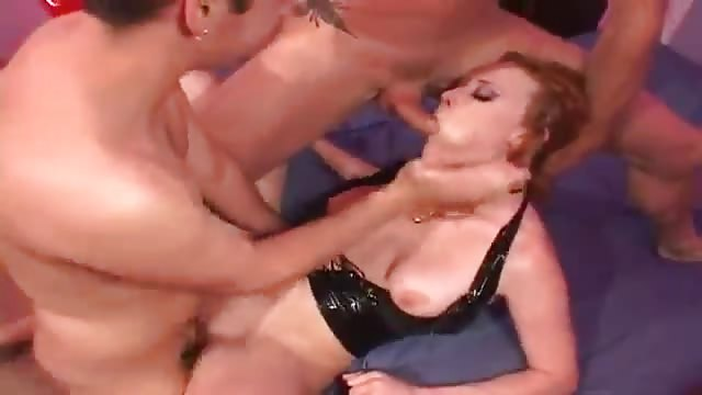 Fat babes taking cock at orgy