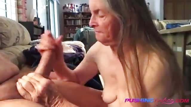 Gives blowjob Granny