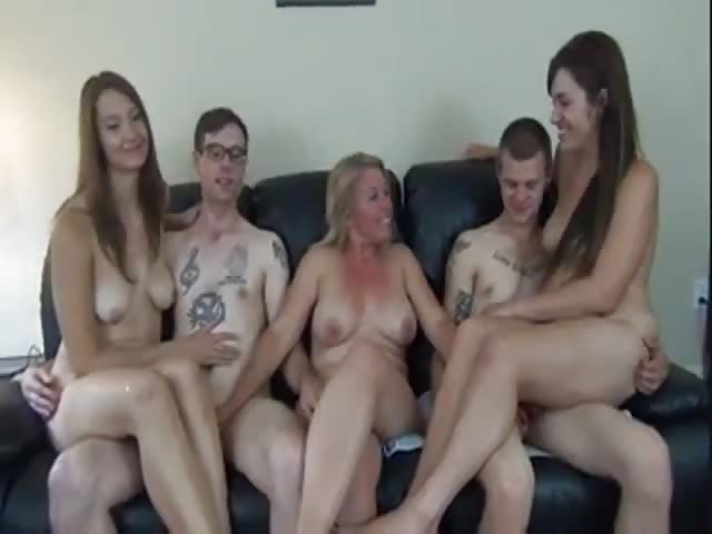 full family orgy videos Surprise, surprise.