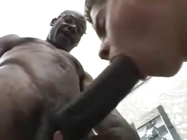 Bianco ragazzo prende grande nero cazzo