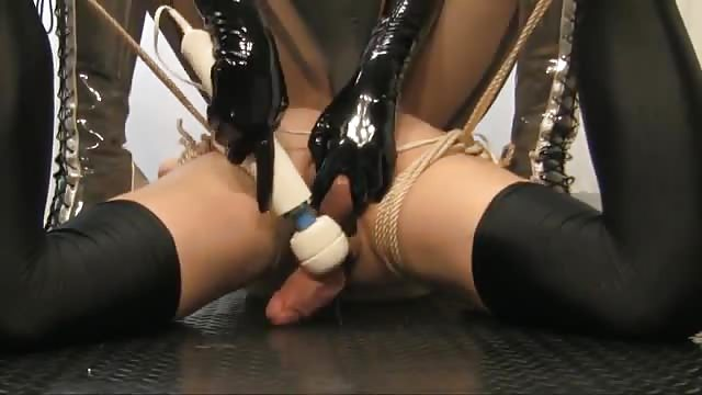 Tied up and jerked off