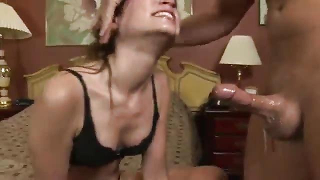 Brunette face fucked